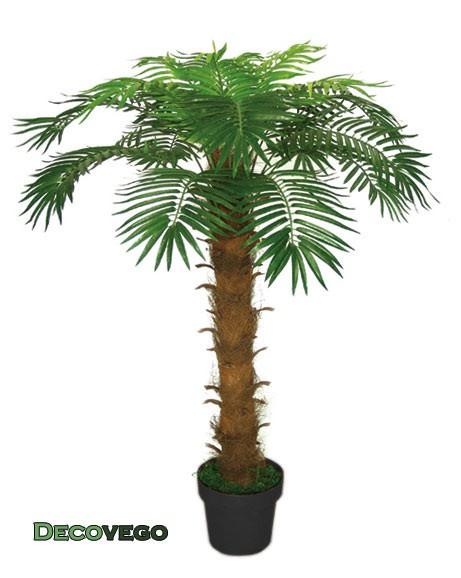 Cocotier palmier plante arbre artificielle artificiel plastique 140cm decovego - Plante artificielle palmier ...