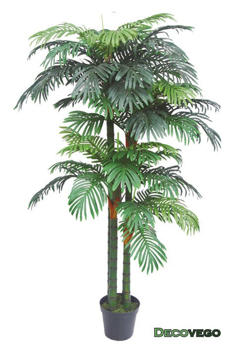 Palmier areca plante arbre artificielle artificiel plastique 190cm decovego - Plante artificielle palmier ...