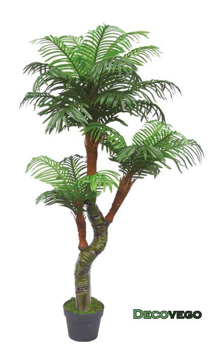 palmier plante arbre artificielle artificiel plastique avec pot 165cm decovego ebay. Black Bedroom Furniture Sets. Home Design Ideas