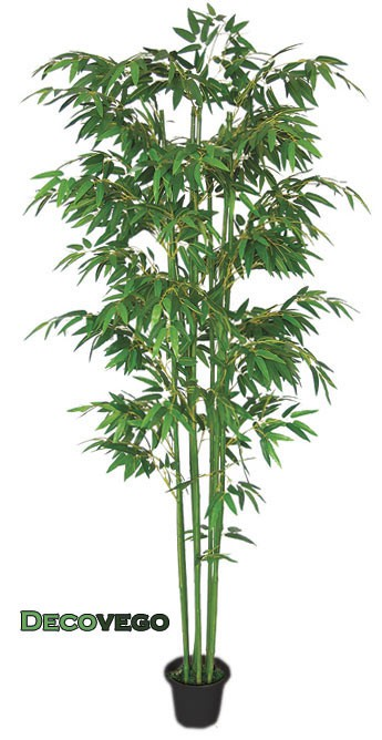 Bamb pianta albero artificiale plastica 210cm decovego ebay for Bambu pianta