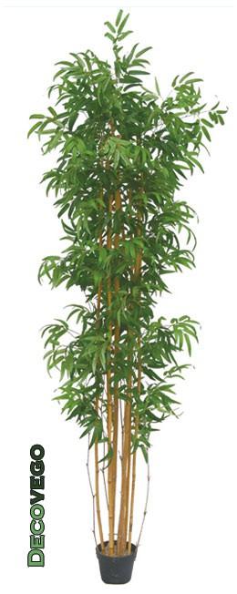 bambus gro kunstpflanze kunstbaum k nstliche pflanze 210cm decovego ebay. Black Bedroom Furniture Sets. Home Design Ideas