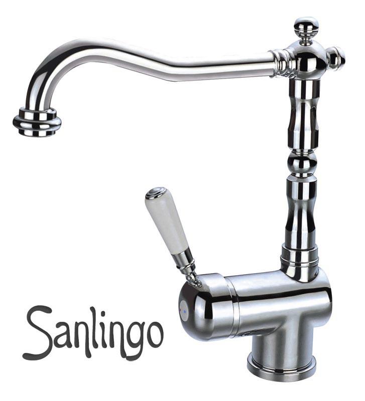 Nostalgia retro lavabo bagno rubinetto monocomando miscelatore sanlingo cromo - Lavabo colonne retro ...
