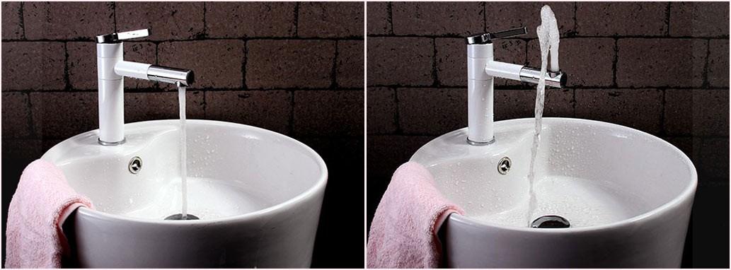 Sanlingo moderno grifo monomando ba o lavabo giratorio - Grifos modernos bano ...