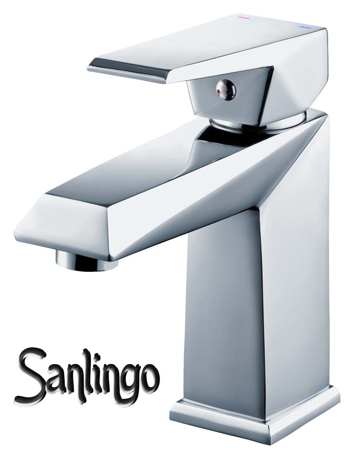 Serie kosi moderno bagno rubinetto miscelatore monocomando lavabo cromo sanlingo - Rubinetto bagno moderno ...