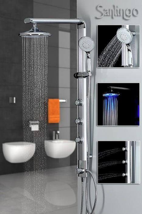 sanlingo led aluminium colonne de douche hydromassage. Black Bedroom Furniture Sets. Home Design Ideas