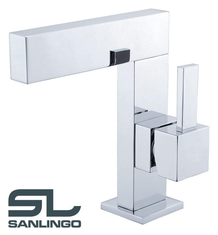 Moderno design bagno lavabo miscelatore monocomando cromo - Miscelatore bagno moderno ...
