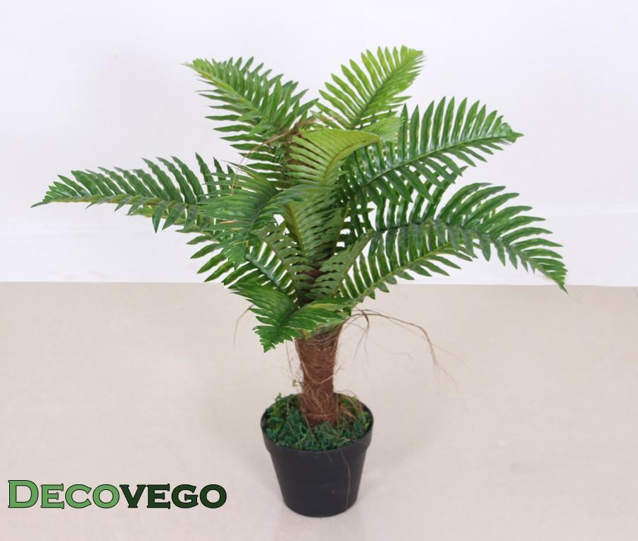 Palmier foug re plante artificielle artificiel 65cm for Plante artificielle palmier