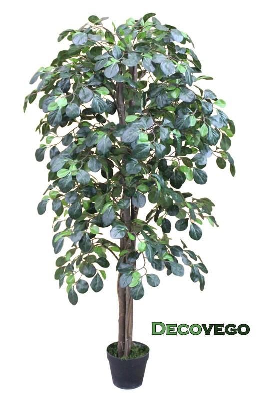 k nstliche pflanze kunstlicher baum kunstbaum mit echtholz 125cm decovego ebay. Black Bedroom Furniture Sets. Home Design Ideas
