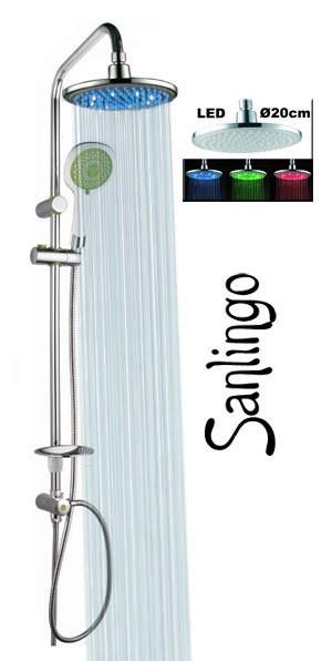 Led design doccia set barra colonna soffione pioggia bagno - Barra led bagno ...