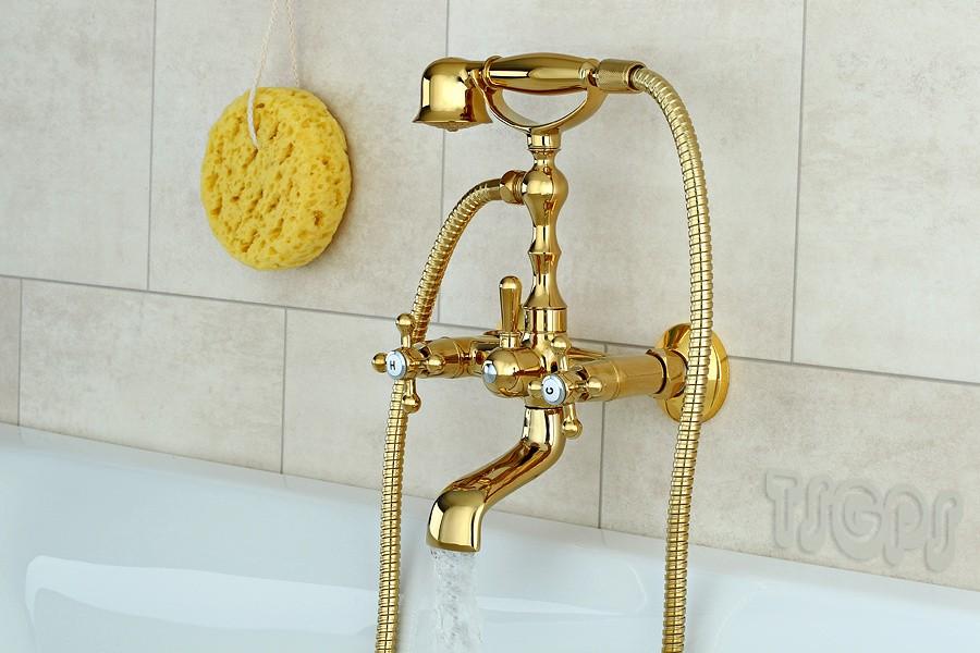 nostalgie retro kreuzgriff badewanne armatur serie gloria gold ebay. Black Bedroom Furniture Sets. Home Design Ideas