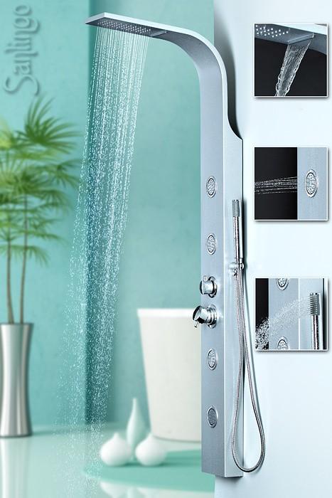 Sanlingo colonna doccia alluminio doccia a pioggia cascata for Doccia a cascata