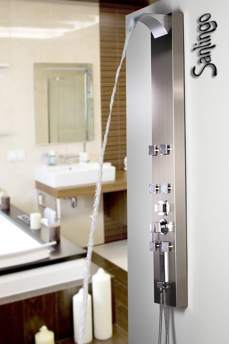 Sanlingo colonne de douche acier inoxydable cascade ebay - Colonne de douche avec jet cascade ...