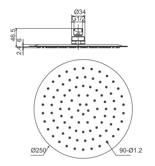 sanlingo acier inoxydable 250mm douche de pluie t te pomme pommeau de douche ebay. Black Bedroom Furniture Sets. Home Design Ideas