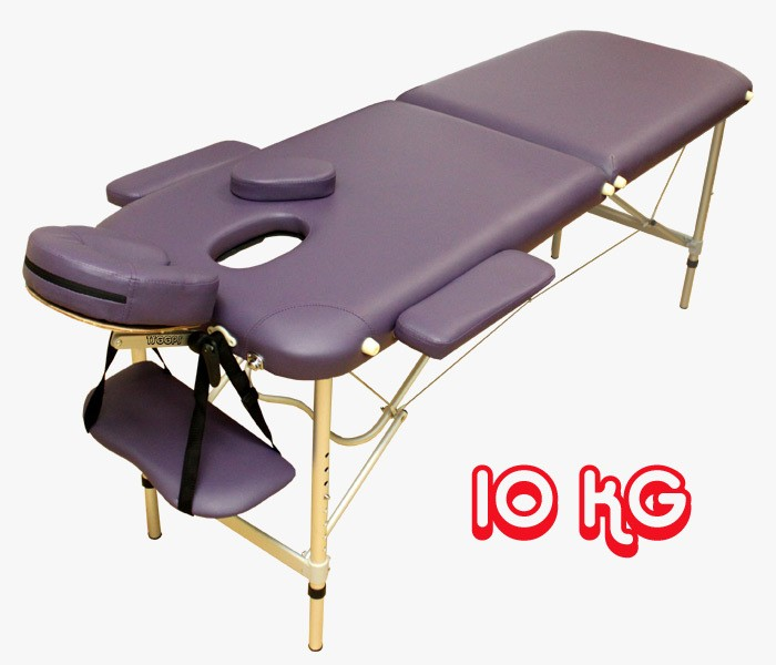 aluminium lightweight 10kg portable massage table purple