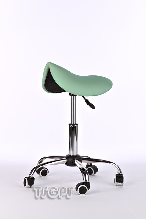 Massage beauty therapy gas saddle stool green ebay for Mobile beauty therapist table