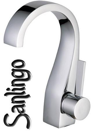 Moderno design bagno lavabo rubinetto miscelatore monocomando cromo sanlingo ebay - Rubinetto bagno moderno ...