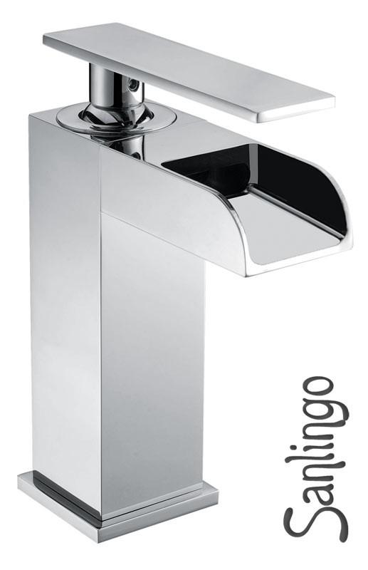 Serie YLA Design Bagno Rubinetto Miscelatore Monocomando Lavabo Cromo Sanlingo  eBay
