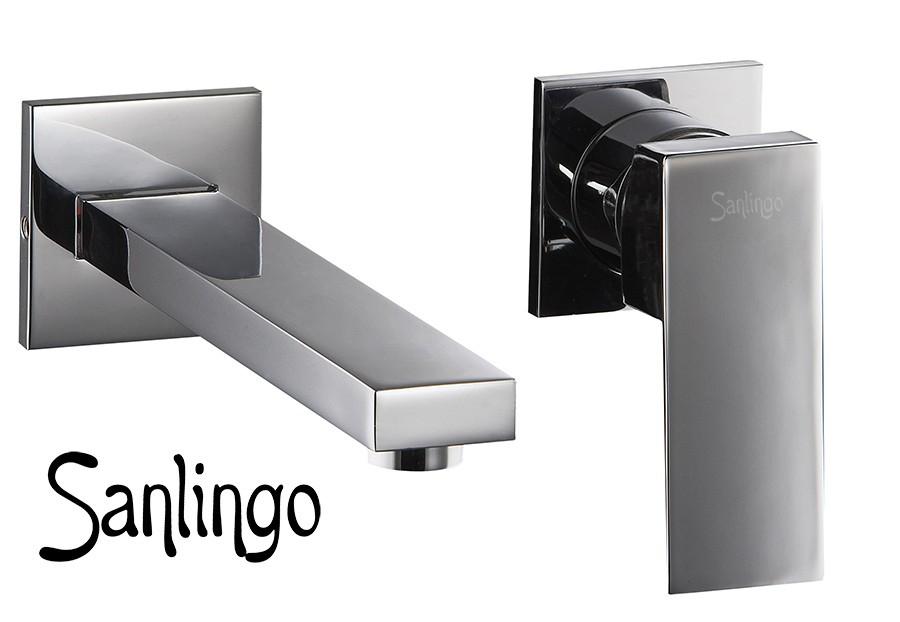 Moderno grifo monomando cromo ba o lavabo sanlingo ebay - Grifos modernos bano ...
