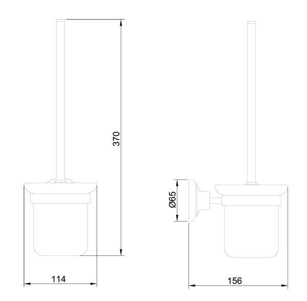luxus toilettenb rste klob rste b rste wc sanlingo gold design bs1 ebay. Black Bedroom Furniture Sets. Home Design Ideas