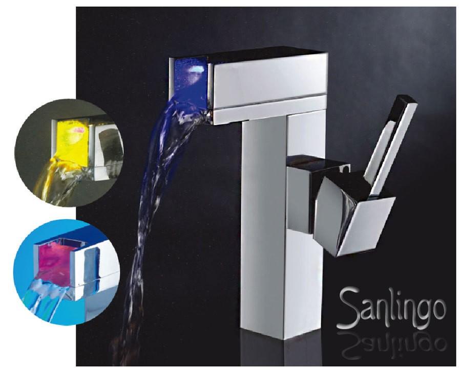 Rubinetto Led Per Il Bagno Sprinkle : Led design bagno lavabo rubinetto miscelatore monocomando