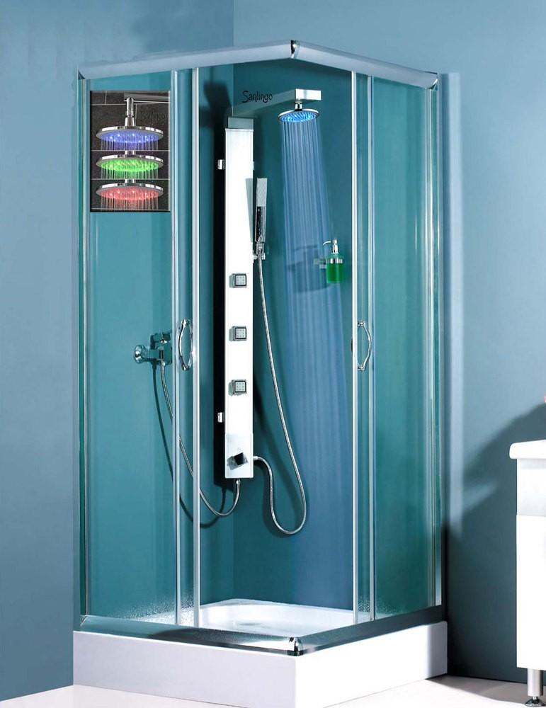 Sanlingo led aluminium colonne de douche massage l 39 anti calcaire ebay - Colonne de douche a led ...