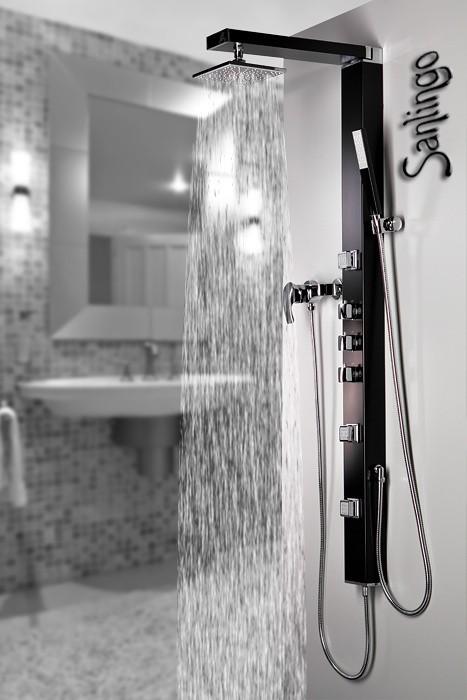 Sanlingo colonne de douche en aluminium jets avec l 39 anti - Colonne de douche sanlingo ...
