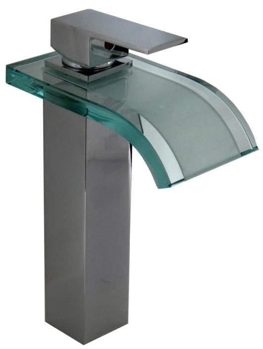 Ba o lavabo moderno grifo cromo sanlingo vidrio monomando - Grifos modernos bano ...
