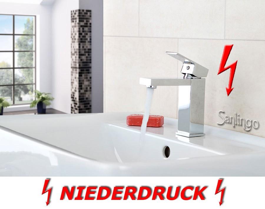 niederdruck design waschbecken waschtisch bad armatur chrom sanlingo ebay. Black Bedroom Furniture Sets. Home Design Ideas