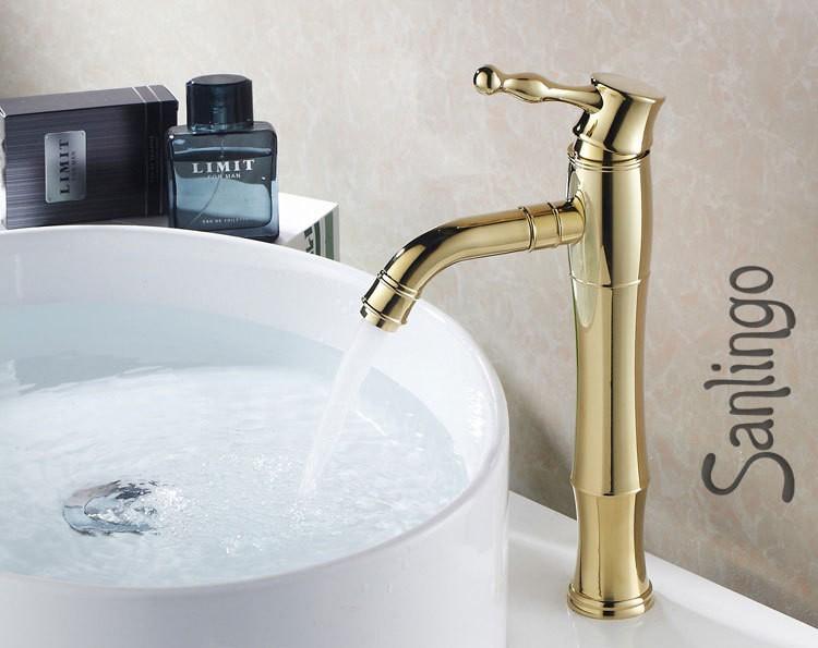 hohe retro einhebel bad badezimmer armatur gold waschbecken waschtisch sanlingo ebay. Black Bedroom Furniture Sets. Home Design Ideas