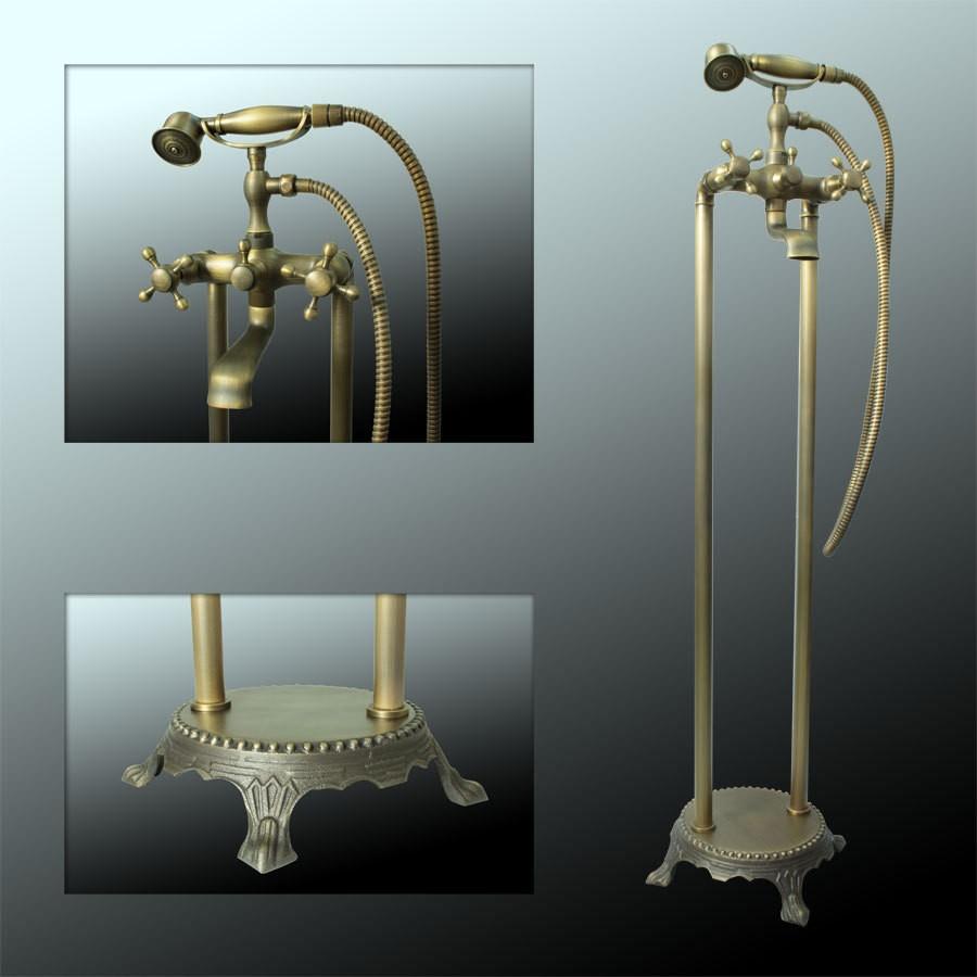 nostalgie r tro robinet isol baignoire antique laiton sanlingo joss ebay. Black Bedroom Furniture Sets. Home Design Ideas