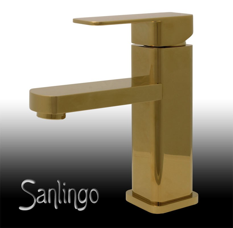 sanlingo modern design bad badezimmer waschbecken einhebel armatur gold ebay. Black Bedroom Furniture Sets. Home Design Ideas