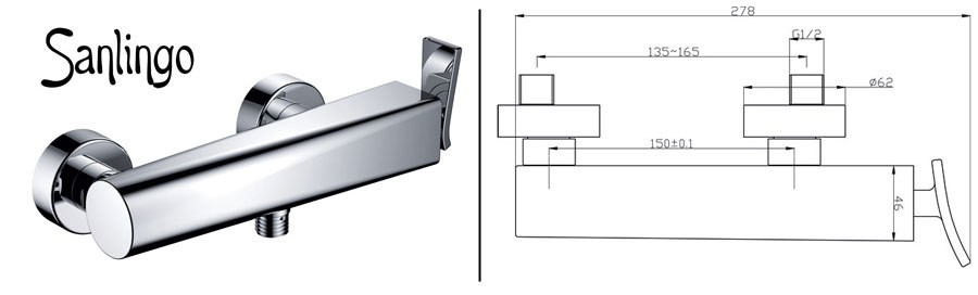 modern design einhebel armatur f r bad oder k che chrom sanlingo jaro ebay. Black Bedroom Furniture Sets. Home Design Ideas