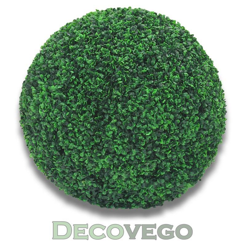 Buis boule de buis plante artificielle plastique 55cm for Boule de buis artificiel pour exterieur
