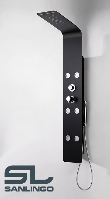 aluminium colonne de douche douche de pluie jets de. Black Bedroom Furniture Sets. Home Design Ideas