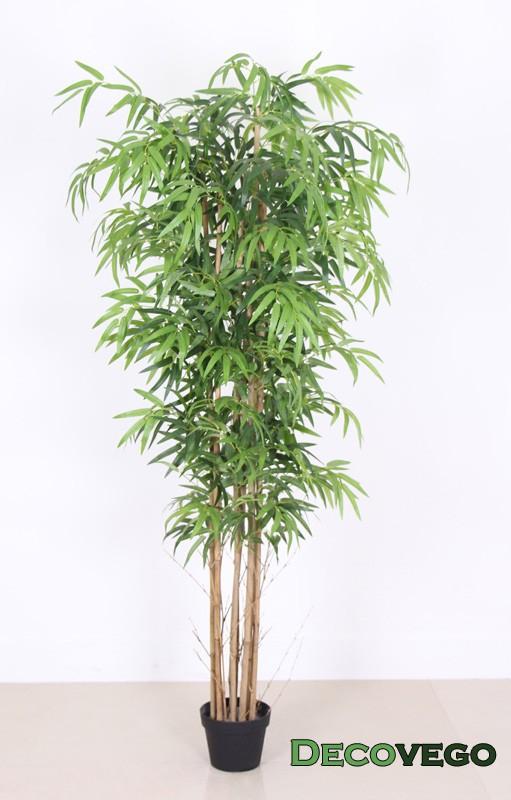 bambus kunstpflanze kunstbaum k nstliche pflanze mit echtholz 180cm decovego ebay. Black Bedroom Furniture Sets. Home Design Ideas
