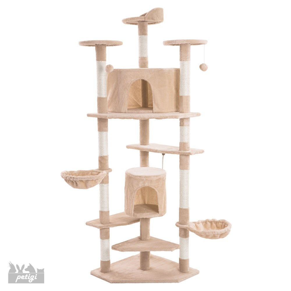arbre chat griffoir grattoir peluche sisal 200 cm hauteur ebay. Black Bedroom Furniture Sets. Home Design Ideas
