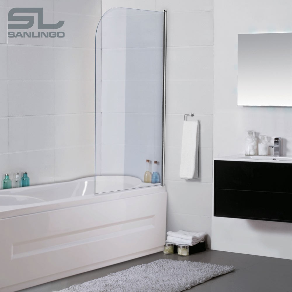 glas badewanne duschwand badewannenaufsatz duschabtrennung 80x140cm alu ebay. Black Bedroom Furniture Sets. Home Design Ideas