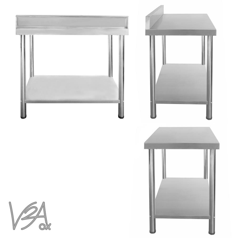 Gastro tavolo lavoro tavolo da cucina regolabile alzatina acciaio inox v2aox - Alzatina cucina acciaio ...