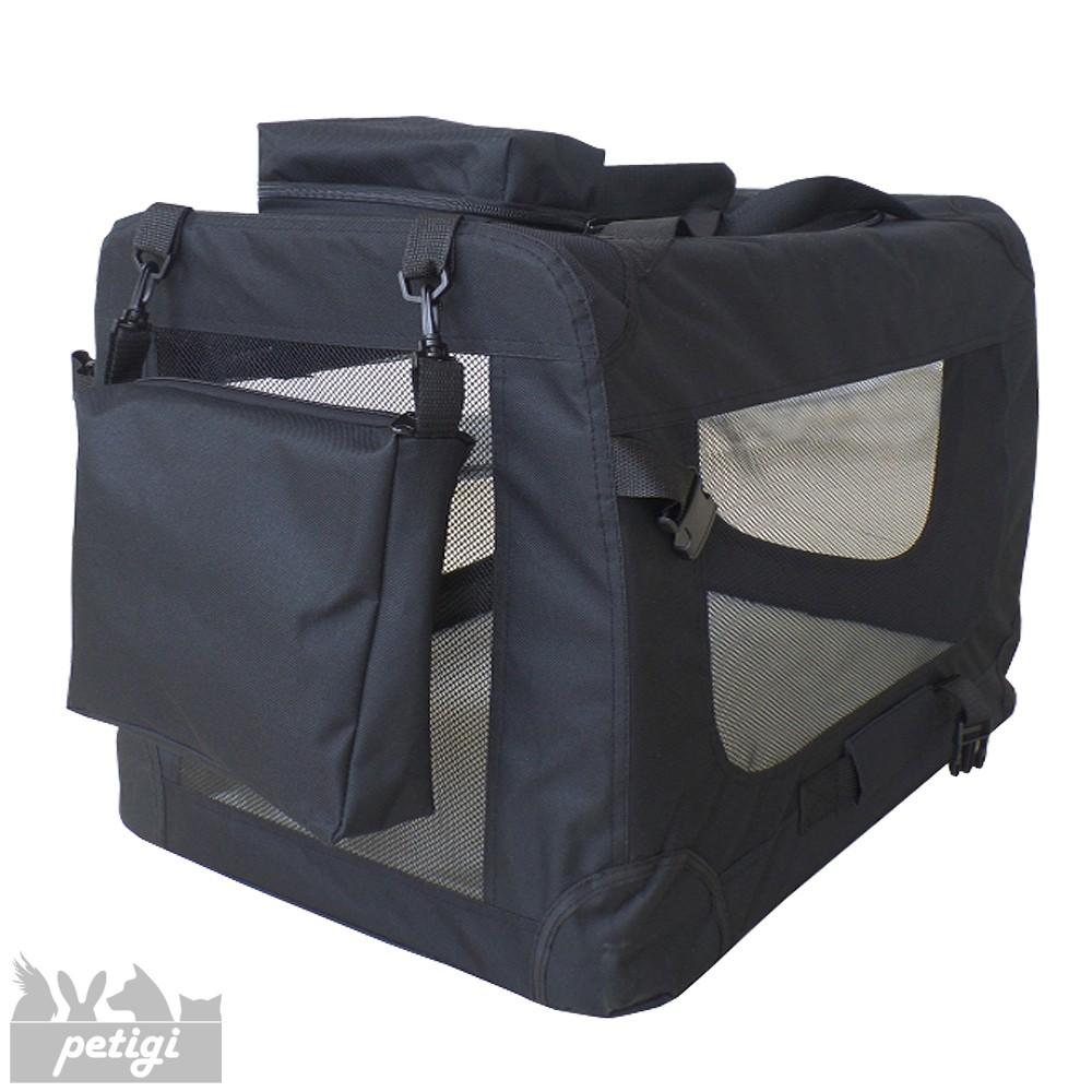 trasportino borsa per cane box gabbia pieghevole auto 7