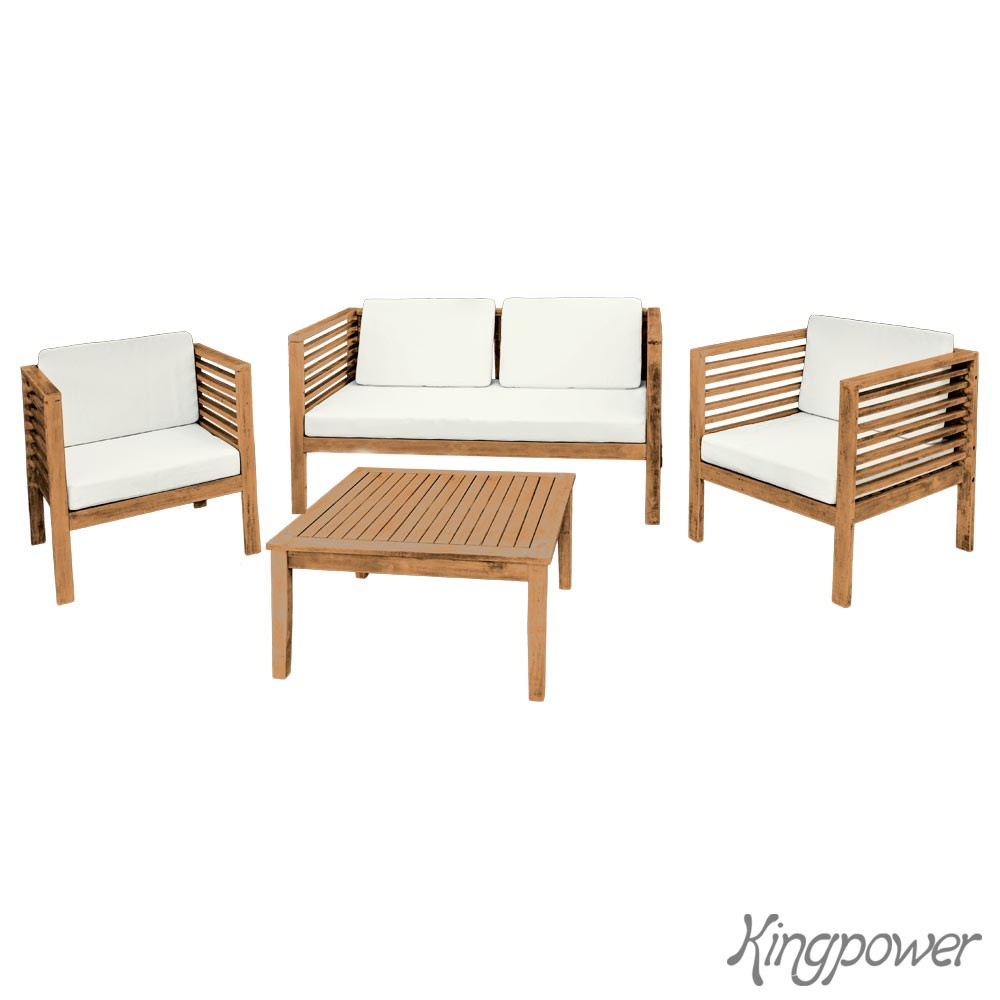 holz gartenm bel sitzm bel sitzgruppe tisch bank sessel akazie garten terrasse ebay. Black Bedroom Furniture Sets. Home Design Ideas
