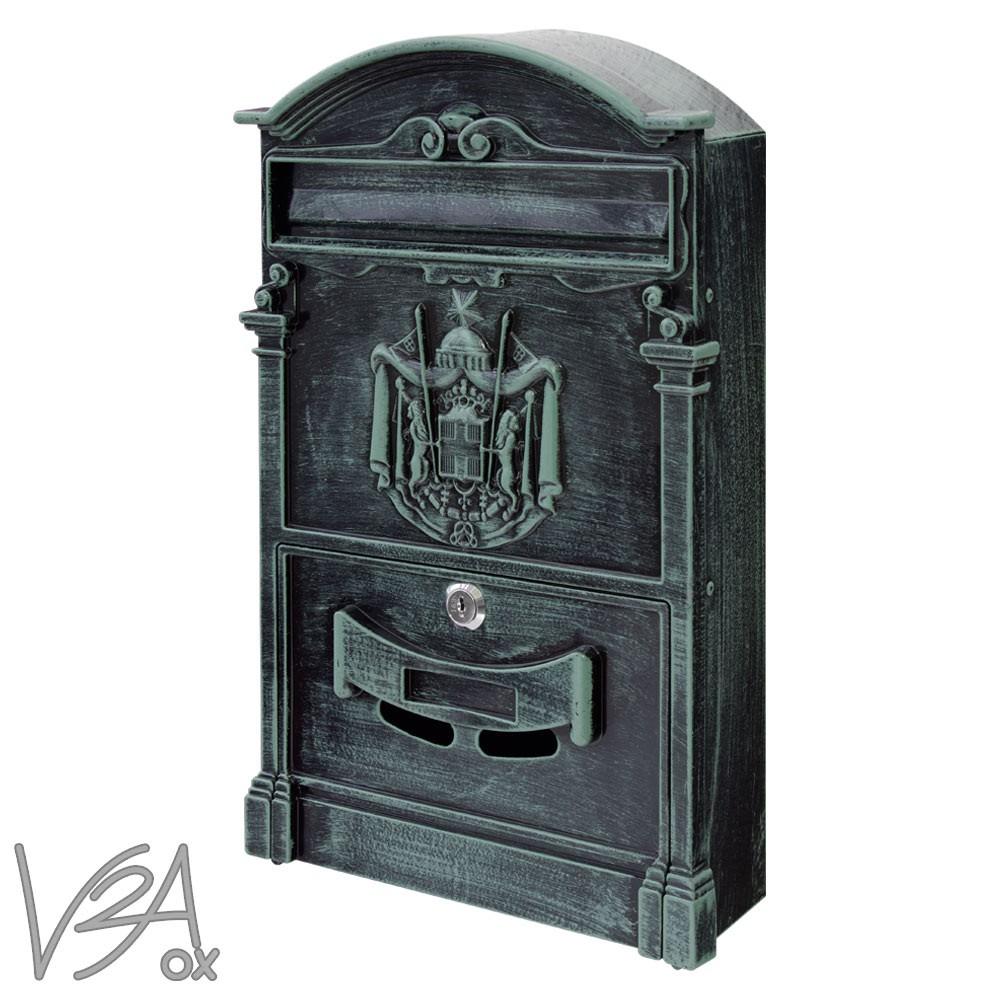 mur bo te aux lettres r tro antique nostalgie vintage 6 couleurs v2aox ebay. Black Bedroom Furniture Sets. Home Design Ideas