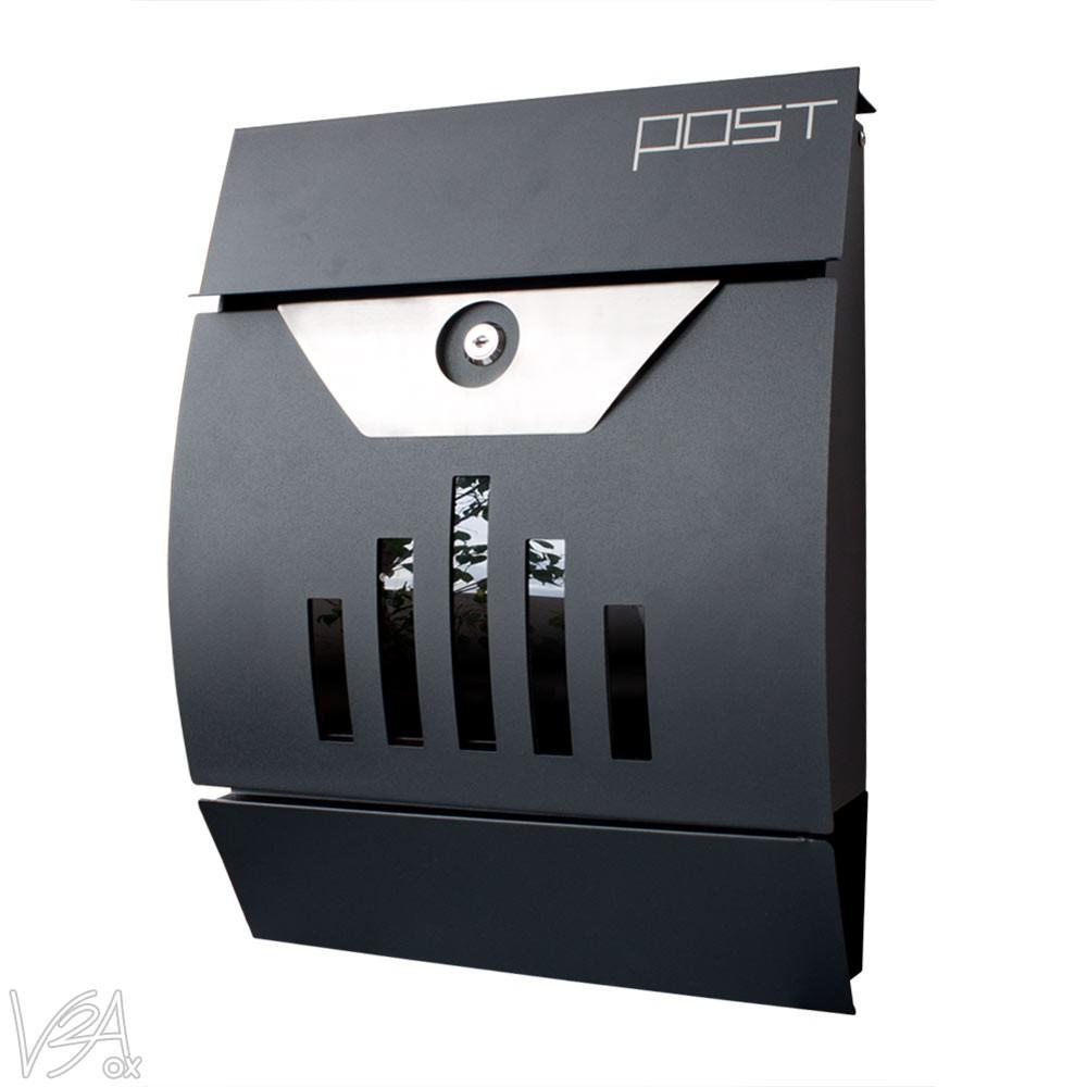 moderne de bo te aux lettres murale en acier inoxydable v2aox ebay. Black Bedroom Furniture Sets. Home Design Ideas